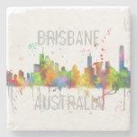 BRISBANE, AUSTRALIA SKYLINE STONE COASTER