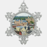 Schwerin, Germany Snowflake Pewter Christmas Ornament