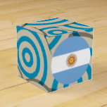 Fun Filled, Round flag of Argentina Favor Box
