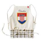 Croatia Flag Personalized Zazzle HEART Apron