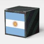 Official Argentina Flag on stripes Favor Box