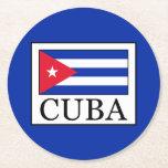 Cuba Round Paper Coaster