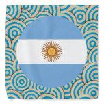 Fun Filled, Round flag of Argentina Bandana