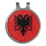Albania Flag Golf Hat Clip