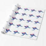 Australian Kangaroo Wrapping Paper
