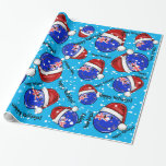 Christmas New Zealand Style Smiling Flag Wrapping Paper