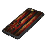 Vintage Grunge State Flag of Hawaii Carved Cherry iPhone 6 Plus Bumper Case