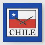 Chile Square Wall Clock