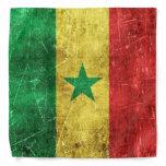Vintage Aged and Scratched Flag of Senegal Bandana