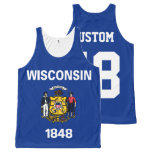 Customized Est. 1848 Wisconsin State Flag All-Over-Print Tank Top