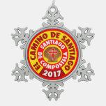 El Camino de Santiago 2017 Snowflake Pewter Christmas Ornament