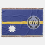 Nauru Flag Throw
