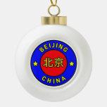 Beijing China Ceramic Ball Christmas Ornament