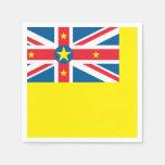 Niue Flag Paper Napkin