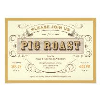 """Vintage Pig Roast Invitations 5"""" X 7"""" Invitation Card"""