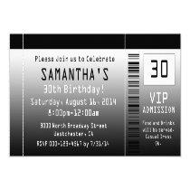 Ticket Invitations, Black + White