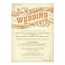 Elegant Western Wedding Invitations