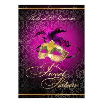 PixDezines Rossi Sweet 16 Masquerade/DIY color!! Invitations