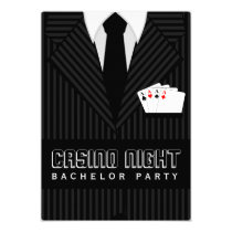 Casino Night Bachelor Party Custom Invitation Invite