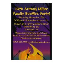 Campfire Party Invitation