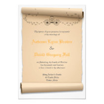 Medieval Wedding Invitations Pumpkin Carriage