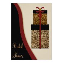 Leopard Gifts Leopard Bridal Shower Announcements