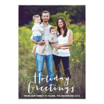 HOLIDAY HAND LETTERING | HOLIDAY PHOTO CARD ANNOUNCEMENTS