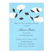 Grad Caps Graduation Party Invitation Invite