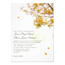 Our Tree in Fall Wedding Invitations