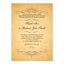 Vintage Wedding Invitations Swirls Flourish