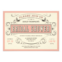 Unique Vintage Bridal Shower Invitations