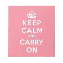 keep calm and carry on Original Memo Notepad