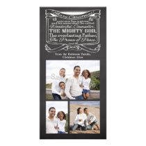 Chalkboard Christmas Christian Scripture Customized Photo Card