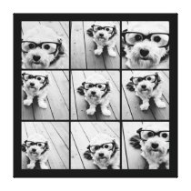 Instagram Photo Collage with 9 photos Gallery Wrapped Canvas