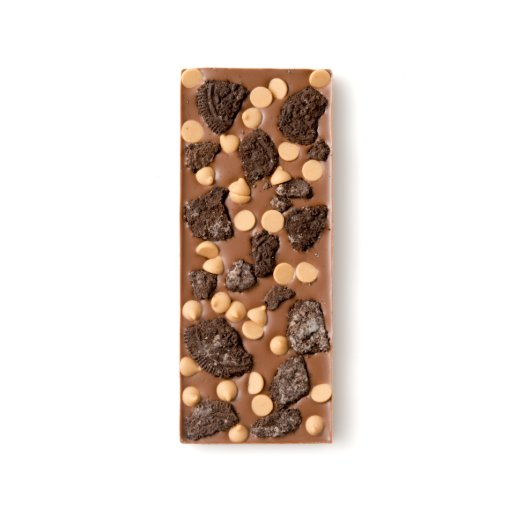 Peanut Butter Drop and Oreo Cookie Milk Chocolate Bar
