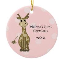Giraffe Baby First Christmas Christmas Tree Ornaments