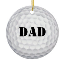 Hole In One! Golf Ball Christmas Ornaments