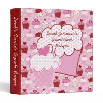 Oh So Sweet Cupcakes Recipe Album 3 Ring Binders