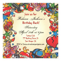 Fabulous Tattoo Party Invitation
