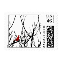 The Red Bird by Leslie Peppers Stamp