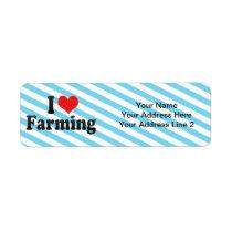 I Love Farming Custom Return Address Labels