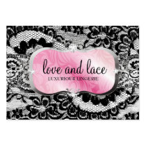 311 Love Lace Pink Platter Metallic Paper Business Cards