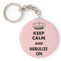 """Respiratory Therapy Gifts """"Keep Calm and..."""" Key Chain"""