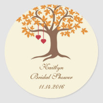 Fall Tree Favor Seal Sticker