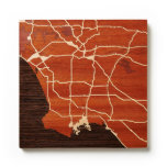 Los Angeles, CA by Woodcut Maps