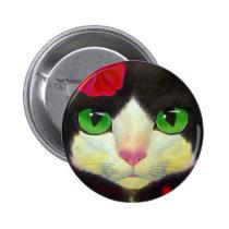 TUXEDO CAT BUTTON