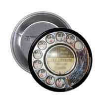 RETRO PHONE DIAL button