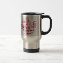 Registered Nurse, Pink Cross Swirls Mug