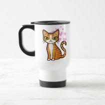 Design Your Own Cartoon Cat (love hearts) Mugs