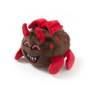 Brown Dragon with Red Horns Stuffed Animal